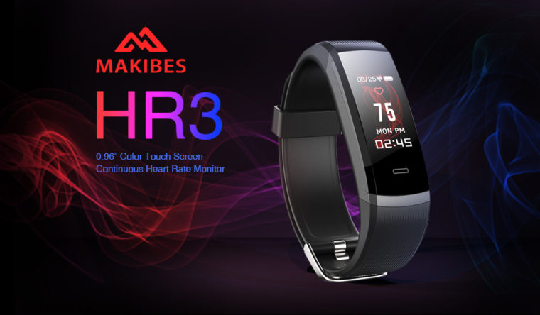 Makibes HR3 Smart Bracelet 01 760x444 1-低価格の中華スマートウォッチ「Makibes HR3 Smart Bracelet」の紹介