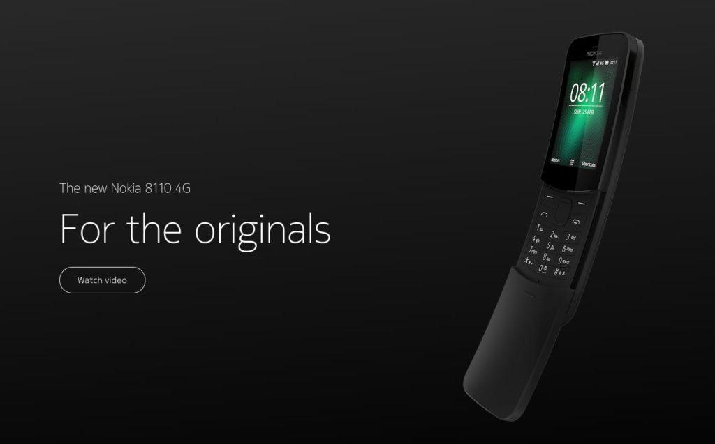 Nokia 8110 4G 1024x637 1-ノキアから「New Nokia 8110 4G」がそろそろ発売されるようです。