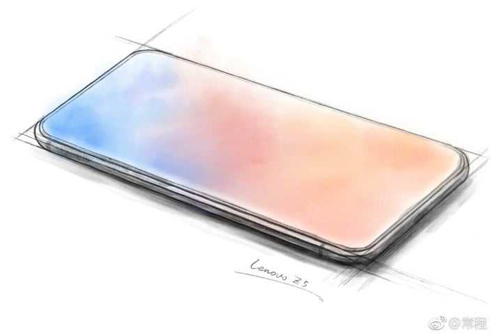 lenovo z5 concept sketch-ベゼルもノッチもない「Lenovo Z5」最新スマートフォンのウワサ