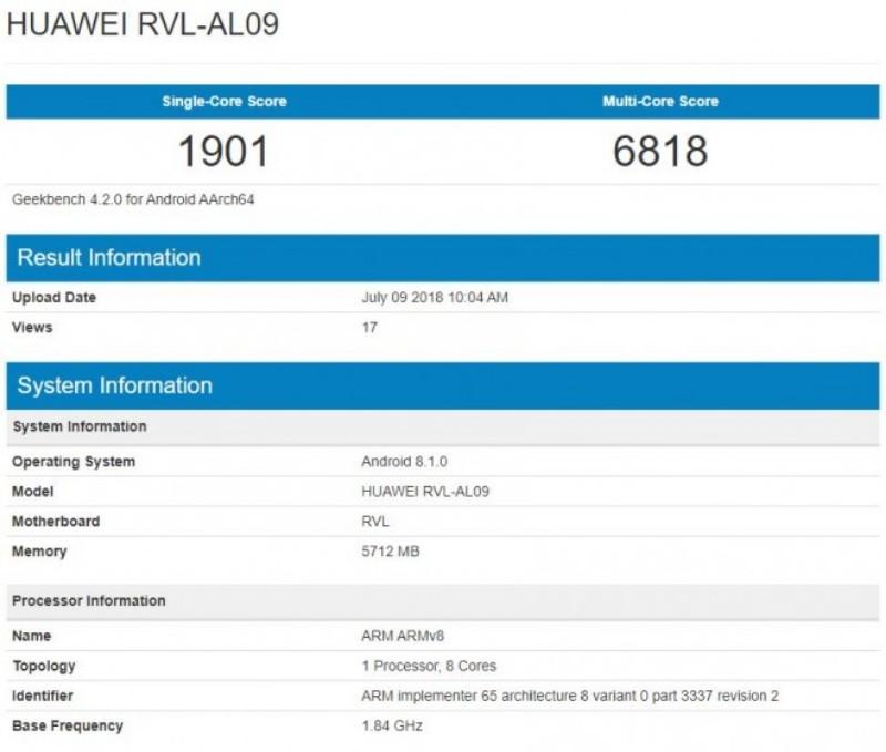 HuaweiからKirin970を搭載した「Honor Note 10」がそろそろリリースされるようです。