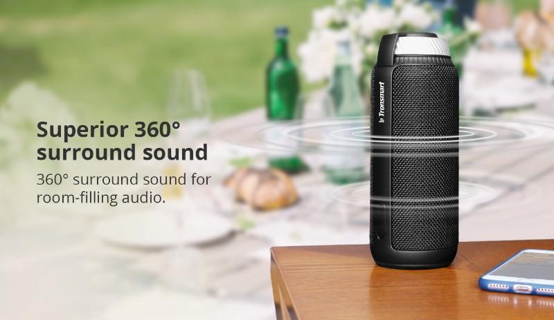 Tronsmart Element T6 25W Portable Bluetooth Speaker-Tronsmart ElementのBluetoothスピーカー「T6」と「Mega」がGeekbuyingでクーポンセール中!