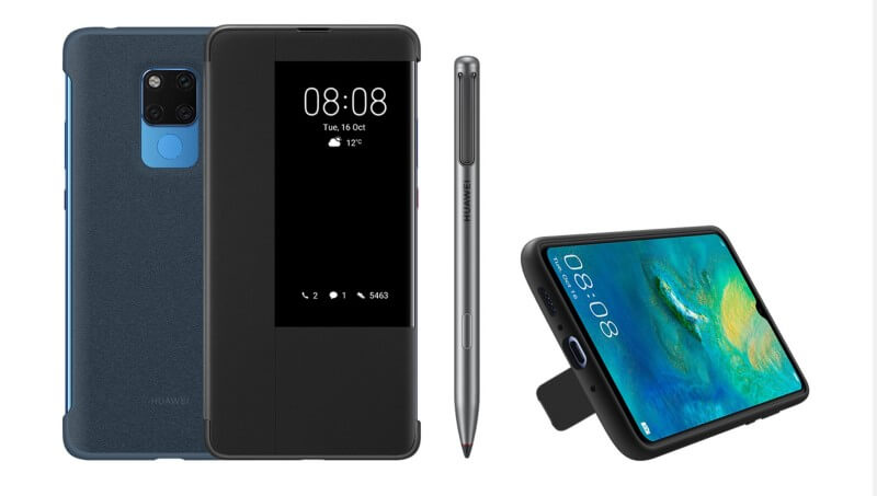 Huawei Mate 20 X stylus and cover