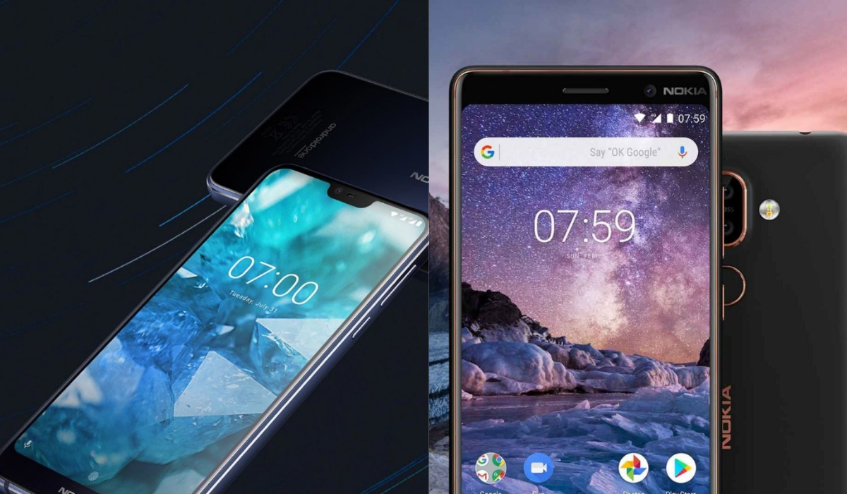 nokia7.1 and nokia 7 plus comp