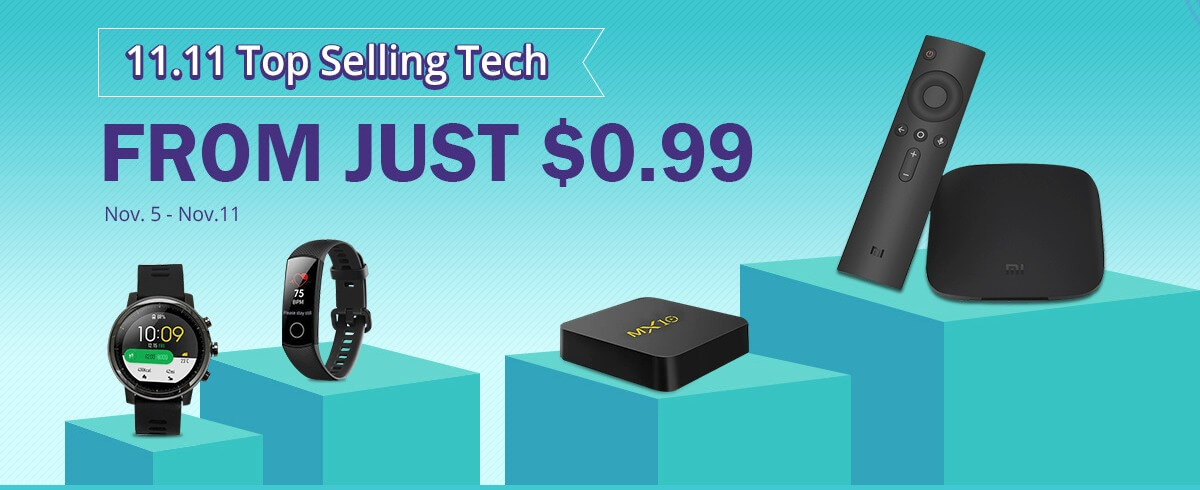 11 11 Top Selling Tech From Just 0 99 GeekBuying com-Geekbuyingでまだまだセール開催中。ウェアラブルデバイスやファッションもあるよ![PR]