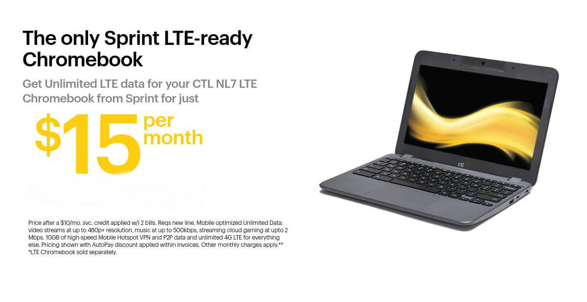 CTL Chromebook NL7 LTE and sprint
