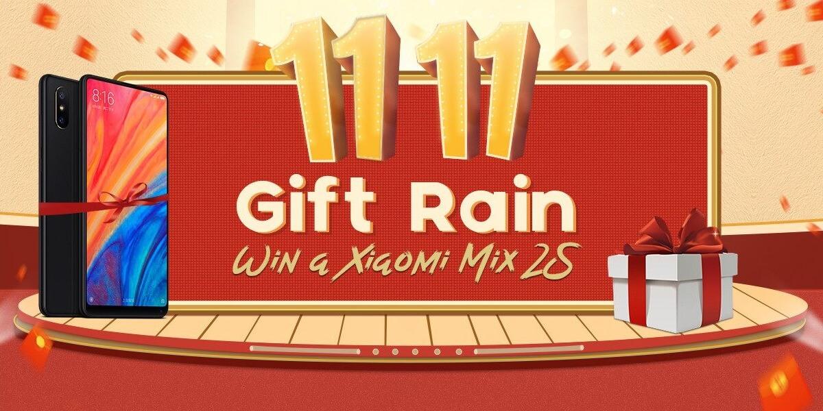 Geekbuying gift rain event-Geekbuyingにログインすると「Xiaomi Mi Mix 2S」が当たる期間限定イベントを開催中![PR]