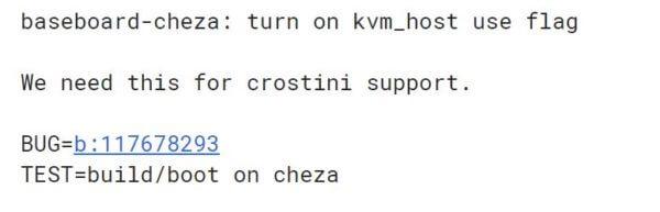 cheza crostini-ウワサのChromebook「Cheza」がCrostiniに対応していることが明らかになりました。