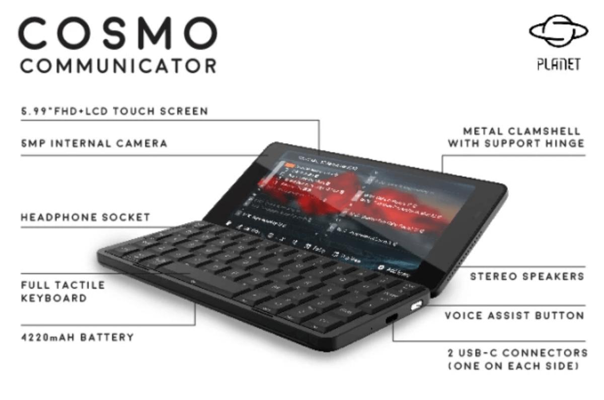 planet cosmo communicator 1-Planetが6インチPDA「Cosmo Communicator」を発表し、Indiegogoで出資募集中です!