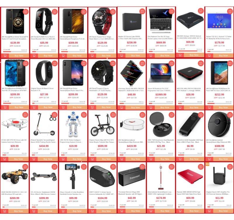 Geekbuying 2018 XMAS sale