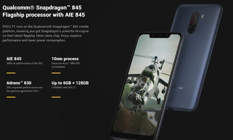 xiaomi pocophone f1 display spec gearbest
