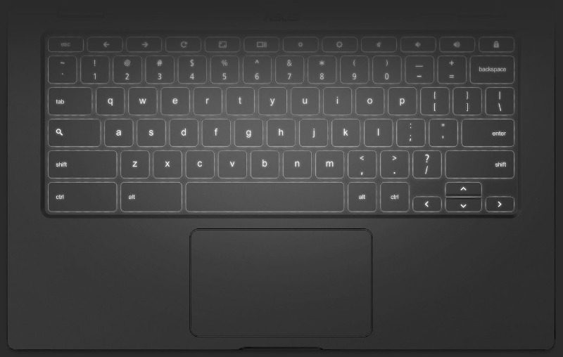 ASUS Chromebook C434 keyboard