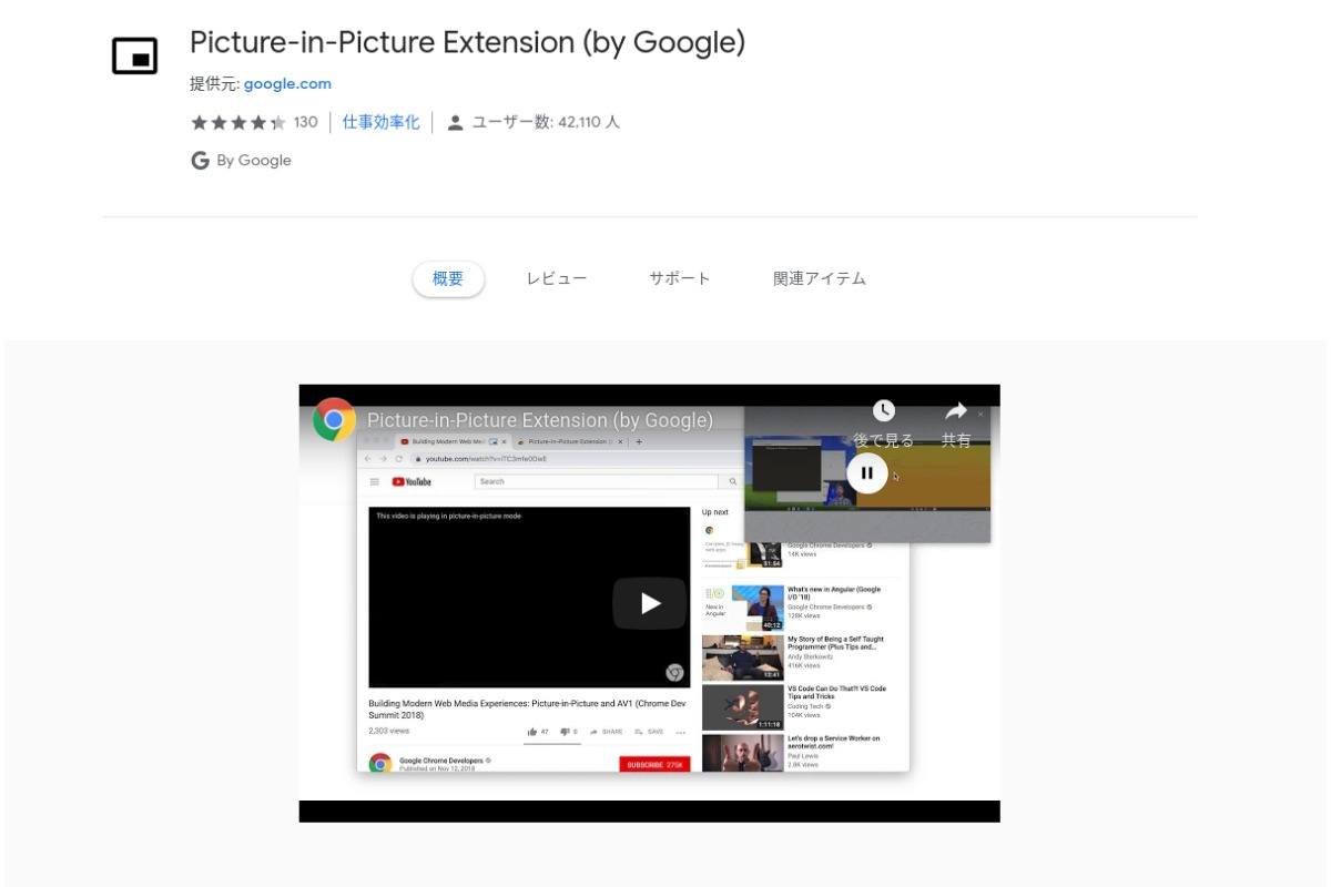 Google PiP Extention-「Picture in Picture(PiP)」をChromebookでも拡張機能で使えるようになります!