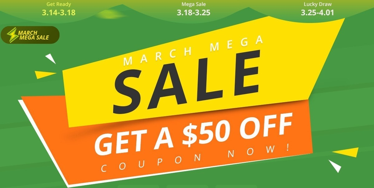 geekbuying 2019 march mega sale-Geekbuyingで「March MEGA SALE」を開催!「Xiaomi Mi 9 SE」もクーポン割引[PR]