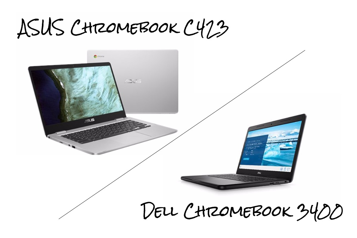 asus and dell chromebook 14-DELLの14インチ「Chromebook 3400」とASUSの「Chromebook C423」を比較してみる