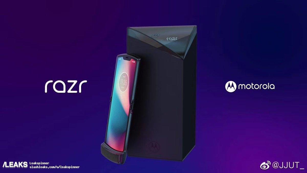 new motorola razr 2019 leaks out 01-モトローラの折りたたみスマホ「Motorola Razr V4」と思われる画像がWeiboに一瞬だけ登場