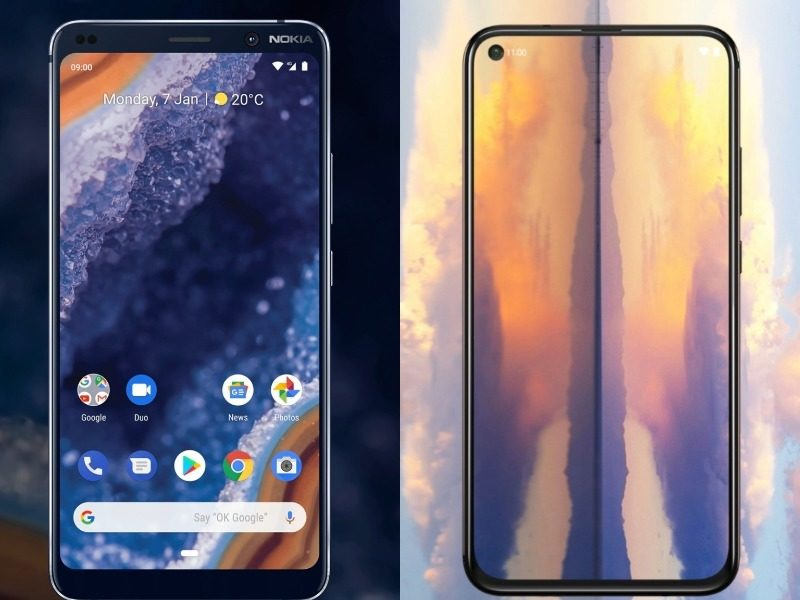 nokia9 and nokia x71 display comp