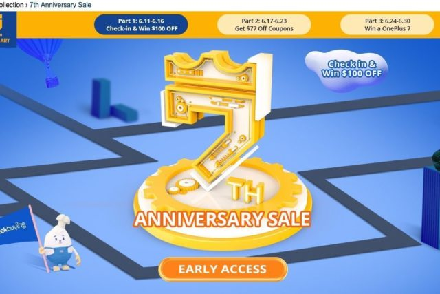 2019 june geekbuying 7th anniversary sale 640x427-Geekbuyingで7周年記念セールを開催!クーポンが当たるチャンスや日替わりタイムセールも実施中[PR]