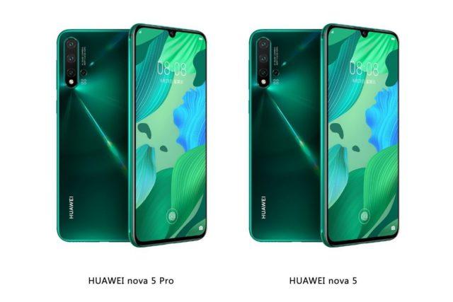 Huawei nova 5 and nova 5 pro 640x427-ファーウェイが「Nova 5」、「Nova 5 Pro」、「Nova 5i」の3つのスマートフォンを中国で発表