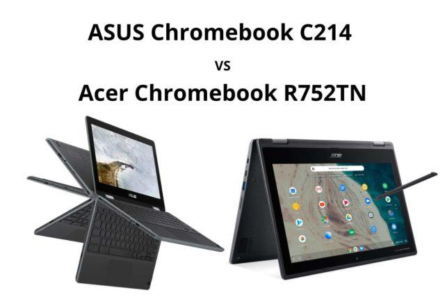 asus chromebook c214 vs acer r752tn 640x427-ASUSの「Chromebook C214」とAcerの「Spin 511 R752TN-N14N」を比較してみる