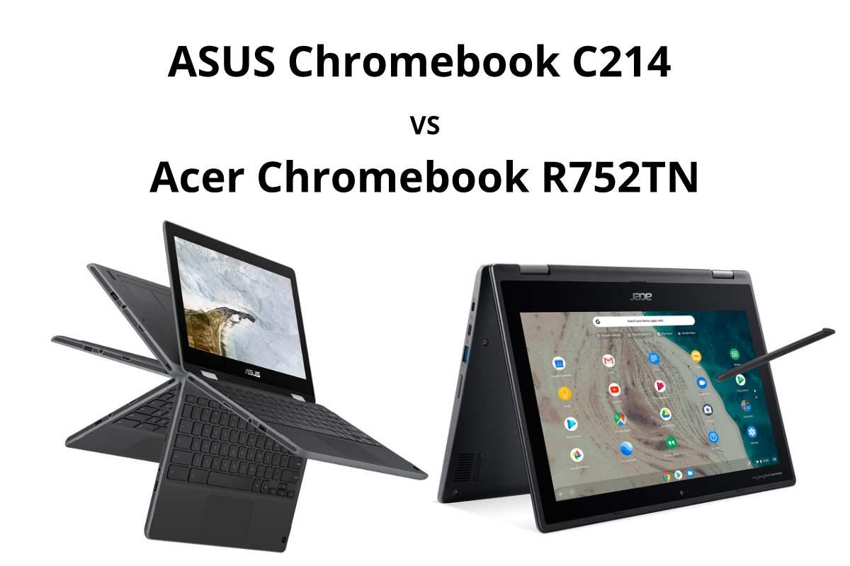 asus chromebook c214 vs acer r752tn-ASUSの「Chromebook C214」とAcerの「Spin 511 R752TN-N14N」を比較してみる