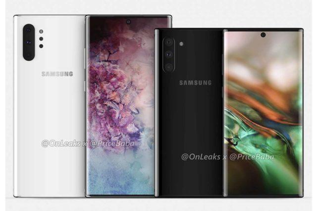 samsung galaxy note 10 pro leak 640x427-Samsungの「Galaxy Note 10 Pro」のレンダリングがリーク!パンチホールとクアッドリアカメラ採用か