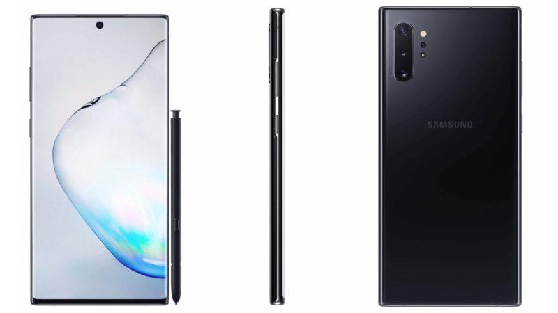 Samsung Galaxy Note 10 plus black-ついにSamsungの「Galaxy Note 10」と「Galaxy Note 10+」の公式レンダリングがリーク