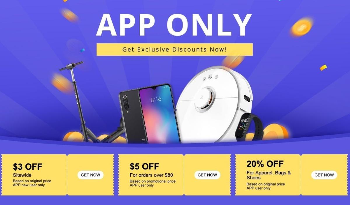 geekbuying app sale event-Geekbuyingでショップアプリユーザー限定のクーポン&セールイベントを開催中[PR]