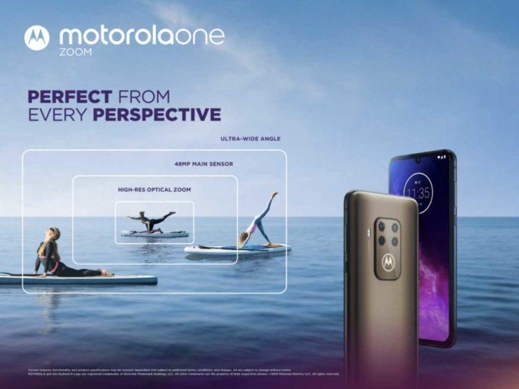 motorola one zoom main 752x564-モトローラから「Motorola One Zoom」が発表となりました。リア4眼カメラのミドルレンジ
