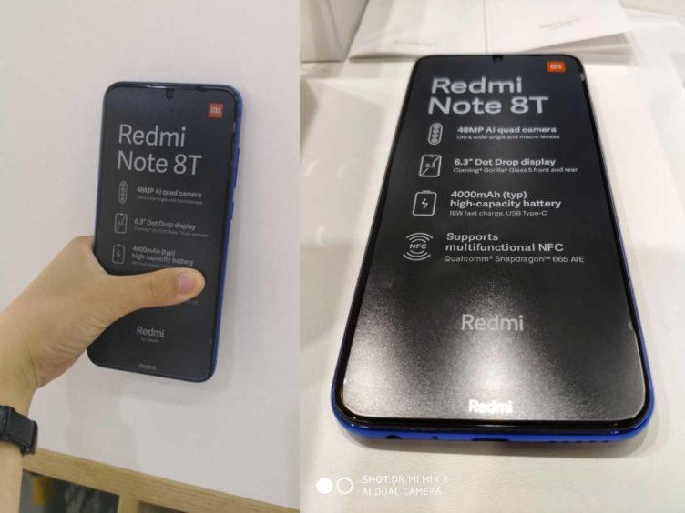 leak xiaomi redmi note 8t image 752x564-Xiaomiの「Redmi Note 8T」の実機写真がリークされました