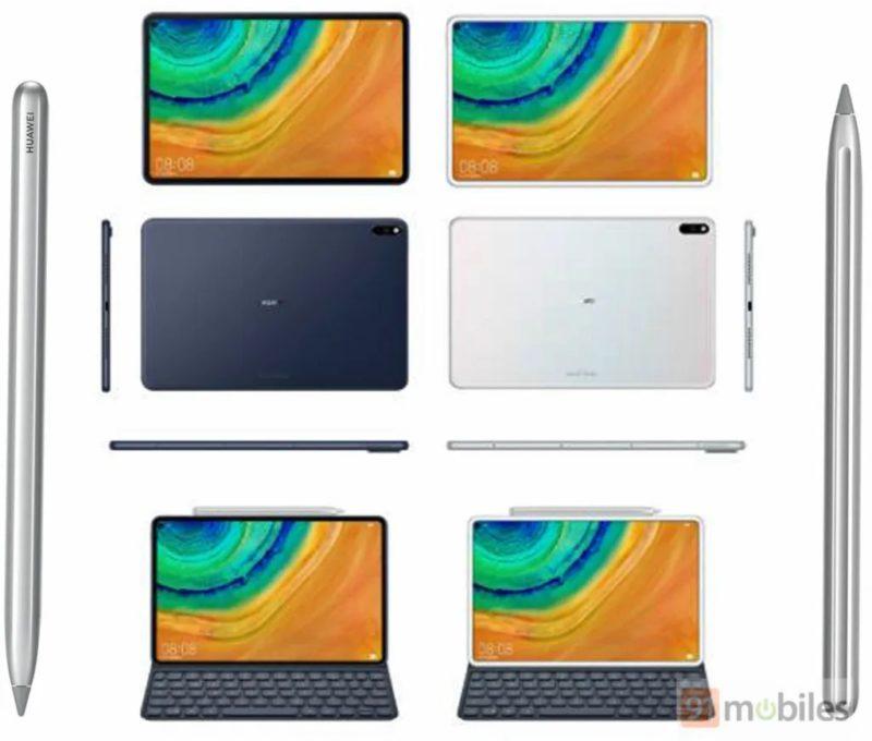 Huawei MediaPad M7 design render 800x680-ファーウェイの「MatePad Pro」はパンチホールを採用して、iPad Proみたいな雰囲気になる?