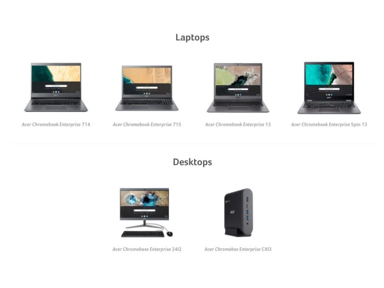 acer and chromebook enterprise 752x564-Acerも海外でChromebook以外も含む「Chrome Enterprise」の新ラインを発表