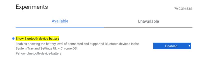 chrome flags battery-ChromebookでもBluetoothデバイスのバッテリー残量を表示できるようになります