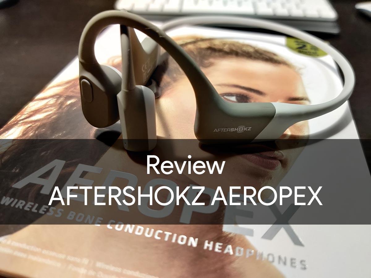 review aftershokz aeropex-AfterShokzの骨伝導ワイヤレスヘッドホン「Aeropex」をレビュー。普段使いもあり
