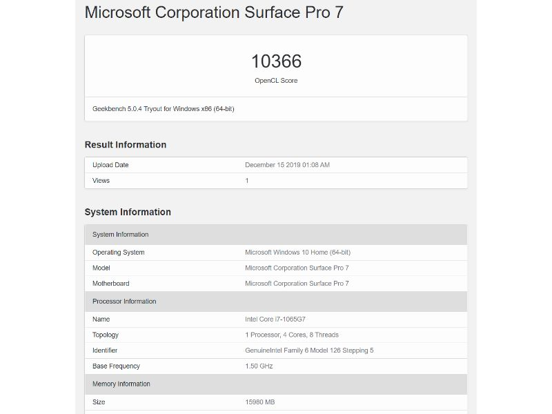 surface pro 7 geekbench opencl results-マイクロソフトの「Surface Pro 7」のi7モデルを実機レビュー!USB-Cポートはやっぱり便利