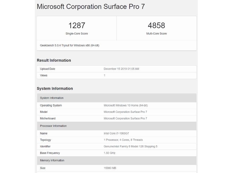 surface pro 7 geekbench results fixed-マイクロソフトの「Surface Pro 7」のi7モデルを実機レビュー!USB-Cポートはやっぱり便利
