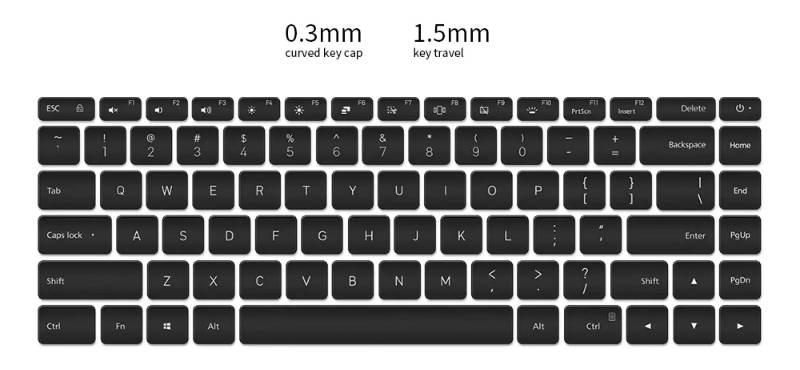 mi notebook pro keyboard image-GearBestで第10世代Core i7搭載の「Xiaomi  Mi Notebook Pro」がセール中[PR]