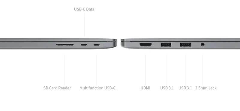 mi notebook pro side image-GearBestで第10世代Core i7搭載の「Xiaomi  Mi Notebook Pro」がセール中[PR]