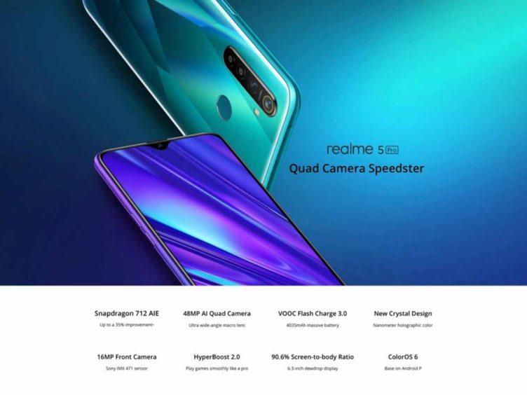 realme 5 pro image 752x564-Banggoodで「OnePlus 7T」や「ASUS ROG Phone 2」などがクーポンセール中![PR]