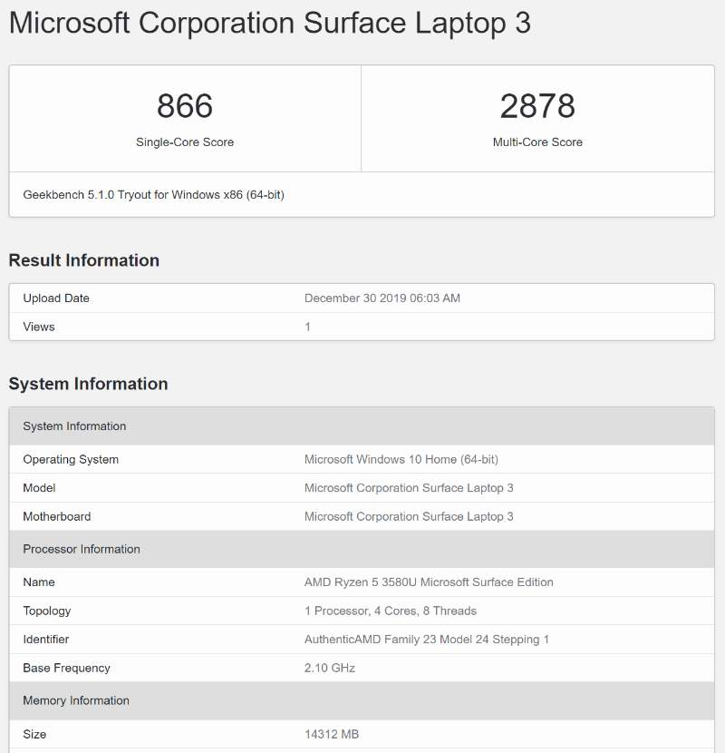 surface laptop 3 15 geekbench-「Microsoft Surface Laptop 3」の15インチモデルを実機レビュー!スタンダードだけどスタイリッシュなノートパソコン