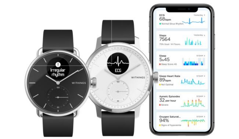withings scanwatch image 01-Withingsが「ScanWatch」というスマートウォッチを発表。心電図や睡眠時無呼吸検出機能も追加