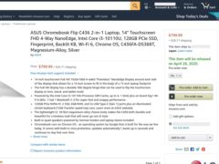 asus chromebook c436 delay 240x180-ASUSの「Chromebook Flip C436」の米Amazon発売が4月26日とさらに遅れる