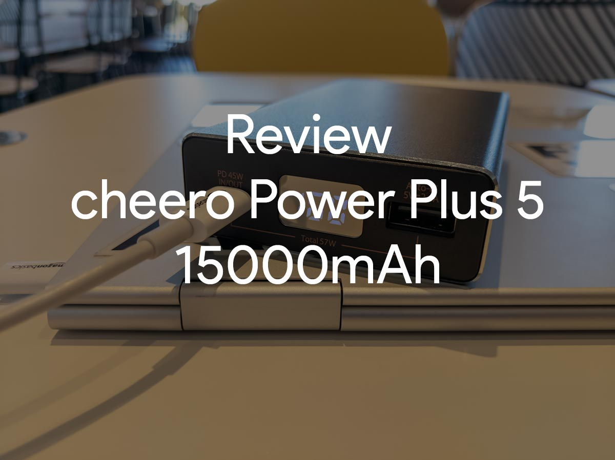 review cheero power plus 5 image-PD45W出力のモバイルバッテリー「cheero Power Plus 5 15000mAh」をレビュー!Chromebookに良いかも