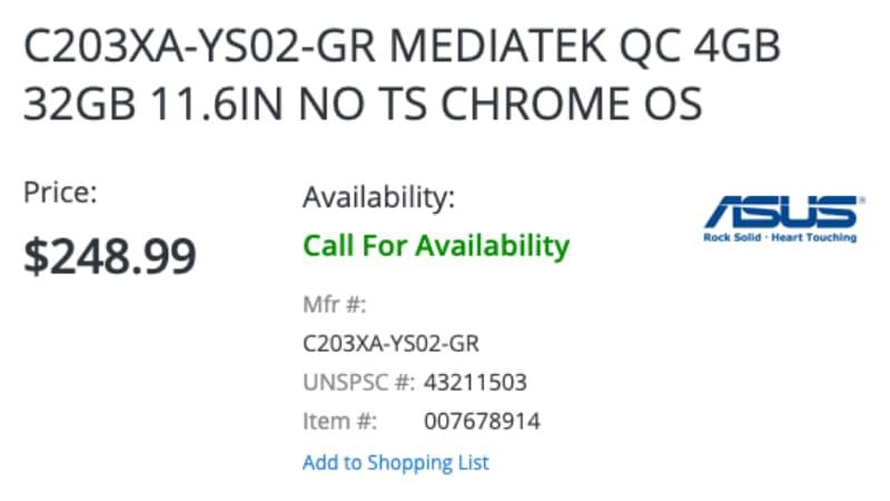 asus chromebook c203xa price-ASUSが「Chromebook C203XA-YS02-GR」もリリースするかもしれません