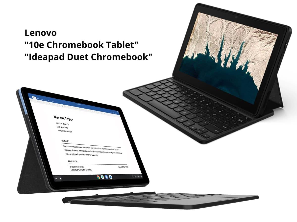 lenovo 10e and duet chromebook-LenovoのChromebookタブレット「10e」と「Duet」を比較