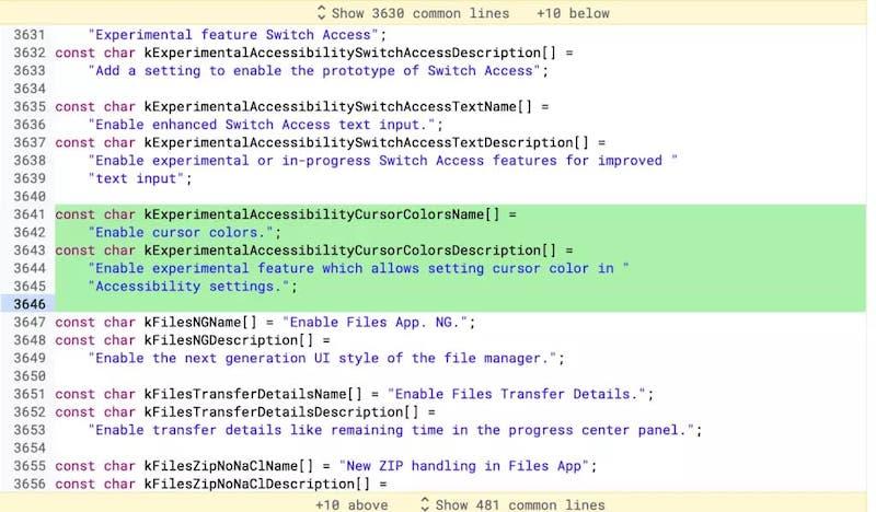 custom cursor color-Chromebookのマウスカーソルの色を変更できるようになります