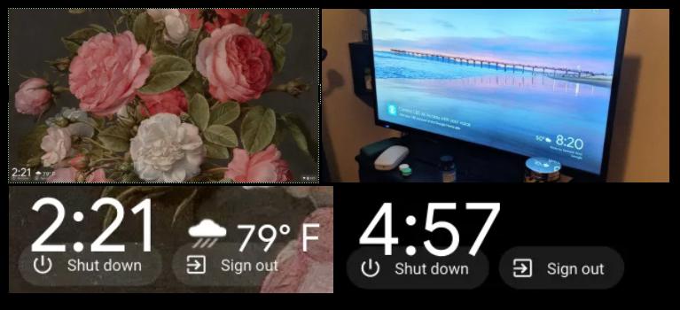 2020 06 09 13.48.54-Chrome OSのアンビエントモードで天気と時計が表示されるようになります