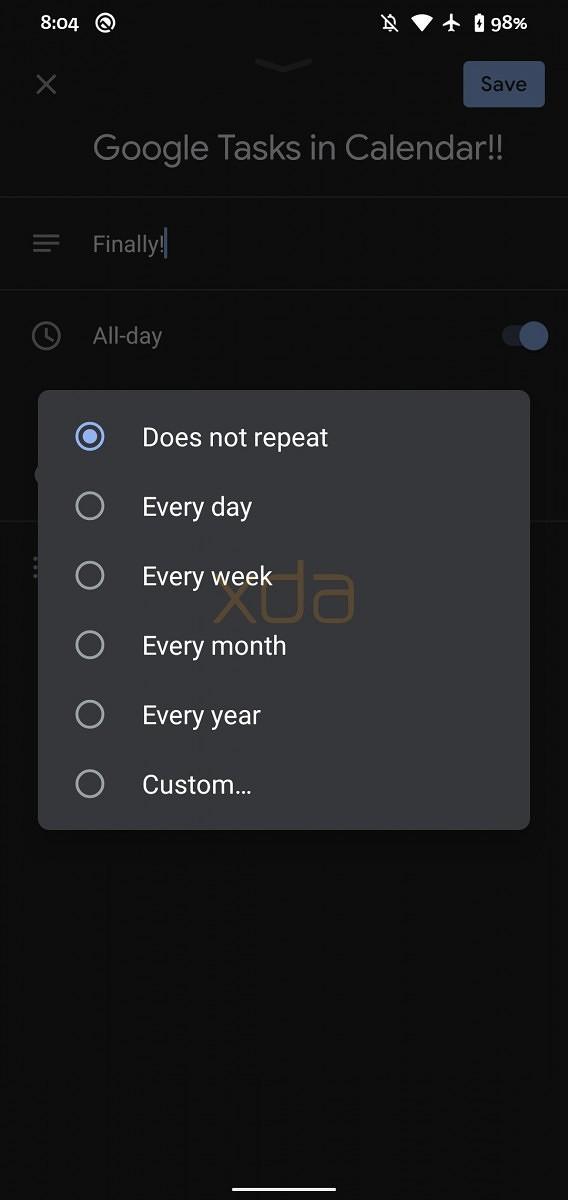 4 Google Calendar Edit Task Repetition-スマホのGoogleカレンダーとGoogle Todoリストがようやく統合されます