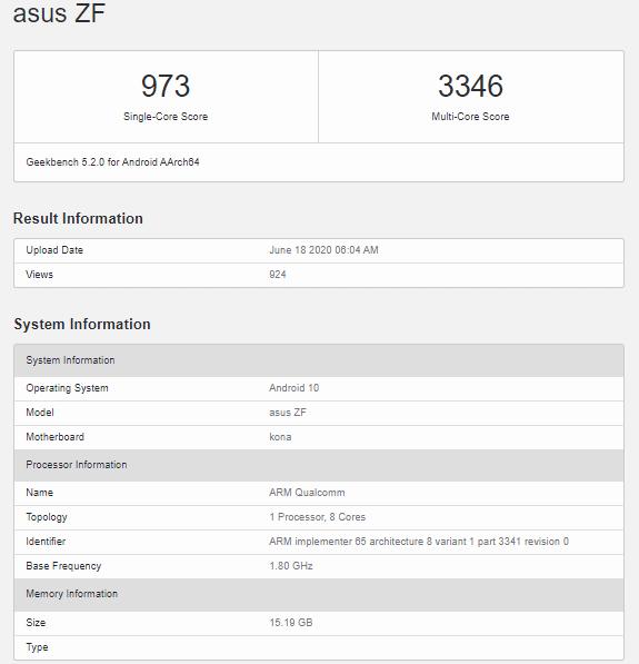 ASUS ZenFone 7 Geekbench-「ASUS ZenFone 7」と見られるベンチマークがGeekbenchに登場