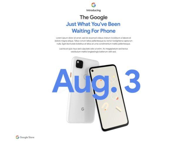 google introduction pixel 4a 640x480-Googleの「Pixel 4a」が8月3日にいよいよ発売となるかも