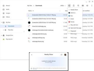 "nearby share on chromebook image 320x240-GoogleのAirdropっぽいファイル転送機能""Nearby Share""は、Chromeブラウザ上で機能するかも"